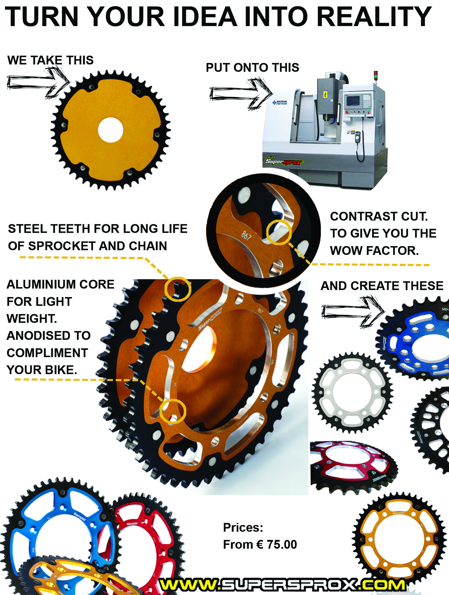 custom sprocket machining